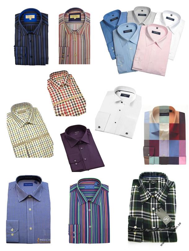 Shirts Plain Checked Taran Striped