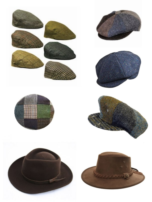 Wool Caps Australian Hats Irish Tweed Baker Boy